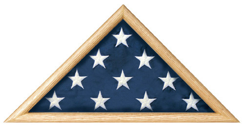 Casket Flag Triangle Display Case