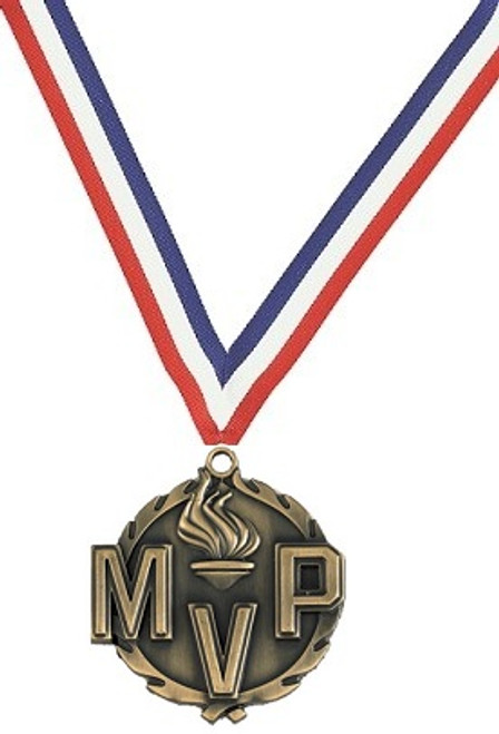 MVP Medal with Red, White & Blue Ribbon