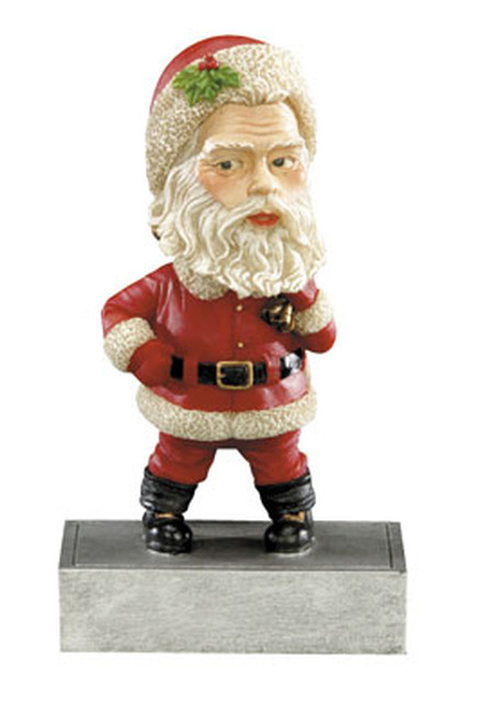 Christmas Santa Claus Bobble Head Resin Award