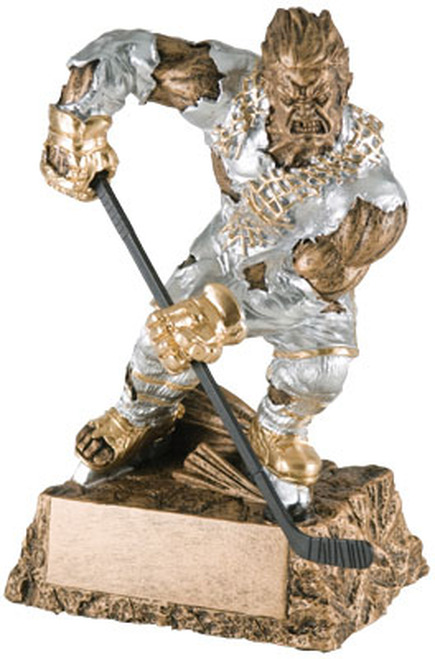 "Hockey Monster Resin Award 6.75"" Tall"