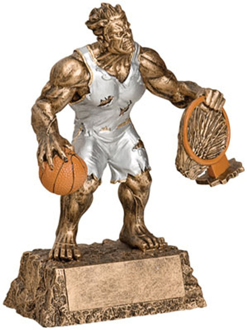 "Basketball Monster Resin Award 6.75"" Tall"