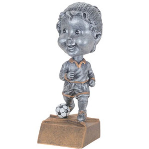 "Soccer Female Bobble Head Resin 6"" Tall"