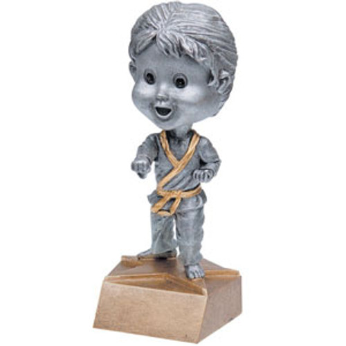 "Karate Female Bobble Head Resin 6"" Tall"