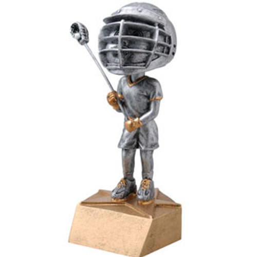 "Lacrosse Male Bobble Head Resin 6"" Tall"