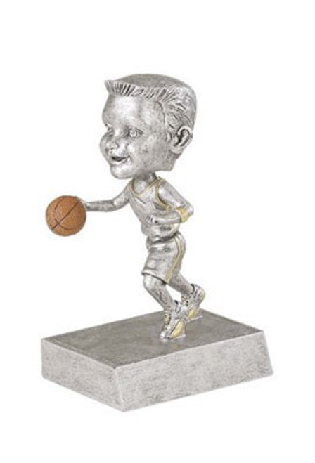 "Basketball Male Bobble Head Resin 5.5"" Tall"