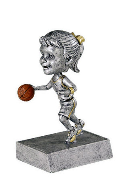 "Basketball Female Bobble Head Resin 5.5"" Tall"