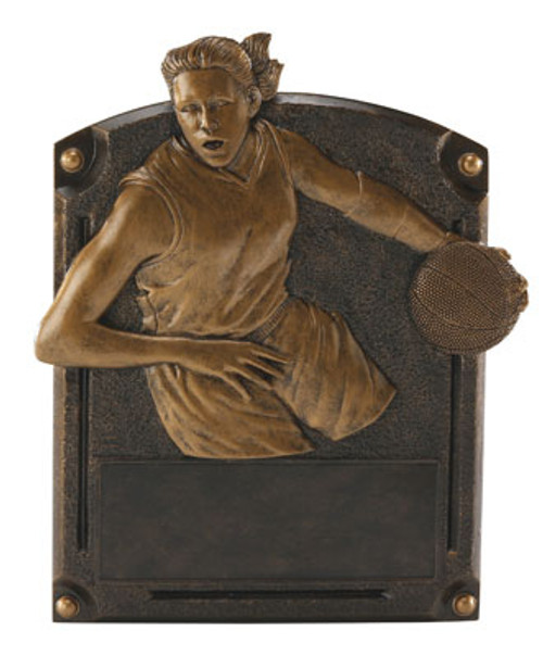 "Basketball Female Legends of Fame Standing Resin Award 8"" Tall"