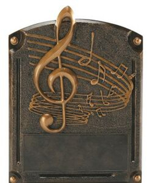 "Music Note Legends of Fame Standing Resin Award 8"" Tall"