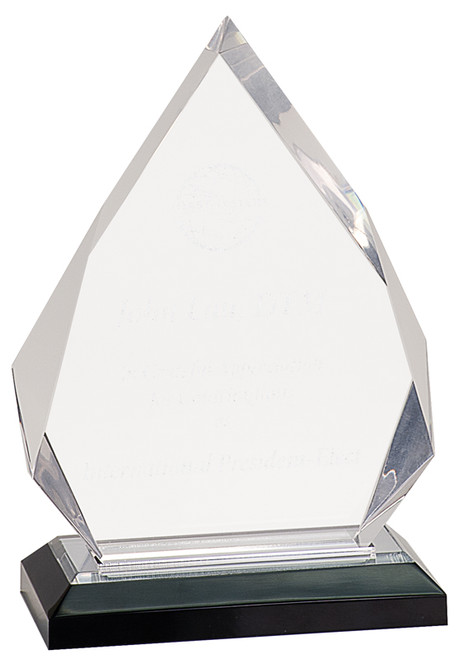 "Diamond Impress Clear Acrylic 8.75"" Tall"