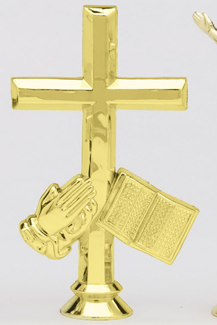 Cross - Bible and Hands