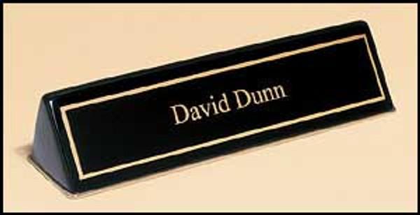 Black Piano-Finish Nameplate