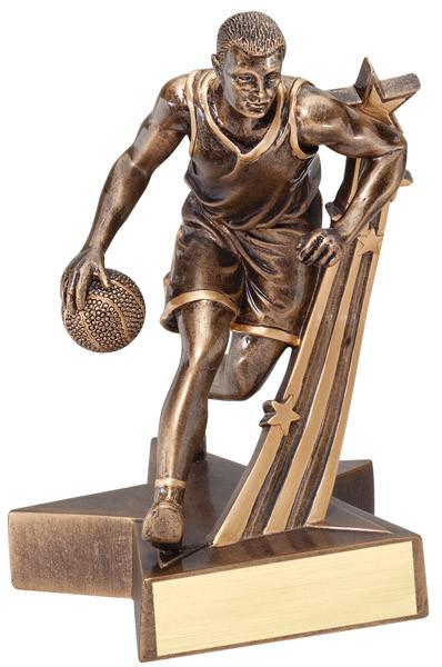 "Basketball Resin Male 6.5"" Tall"
