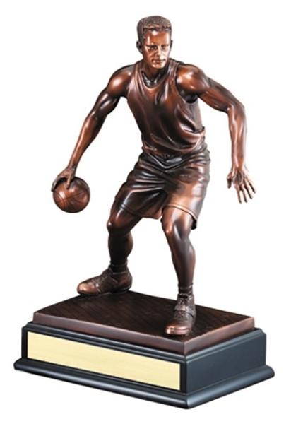 """Basketball Gallery Resin Sculpture 14.5"""" Tall"""