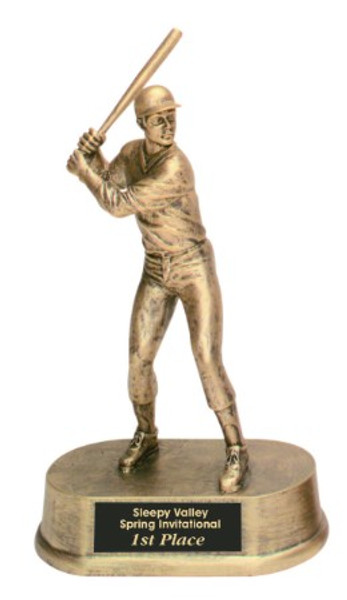 "Baseball Resin Male 9"" Tall"