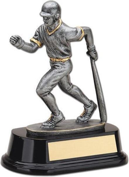"Baseball Bat Down Resin Sculpture Male 6.5"" Tall"