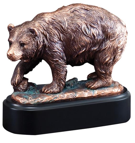 """Brown Bear Gallery Resin Sculpture 6.5"""" Tall"""