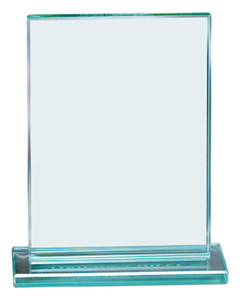 "Jade Glass Rectangle Award 8.5"" Tall"