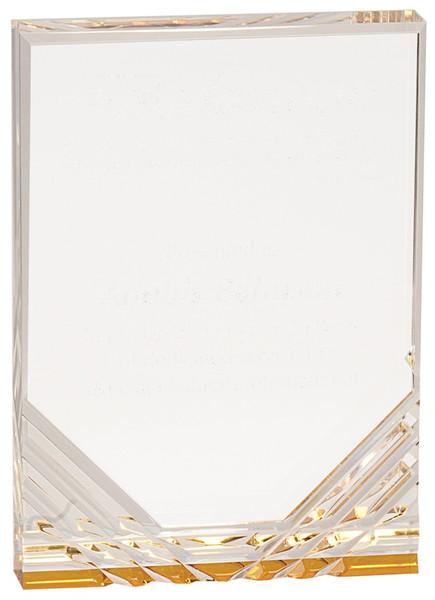 "Gold Jewel Mirage Acrylic Award 7"" Tall"