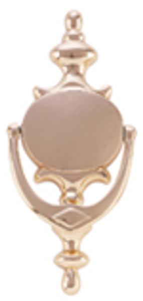 "Oval Style Solid Brass Door Knocker 8"" Tall"