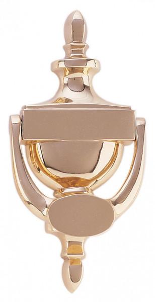 "Classic Style Solid Brass Door Knocker 7.5"" Tall"