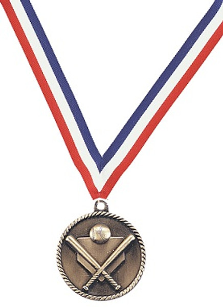 Medal with Red, White & Blue Ribbon with Engraving