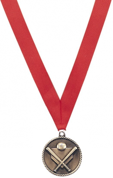 Medal with Red Ribbon with Engraving