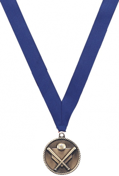 Medal with Blue Ribbon with Engraving