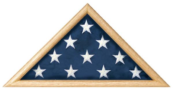 Casket Flag Triangle Display Case