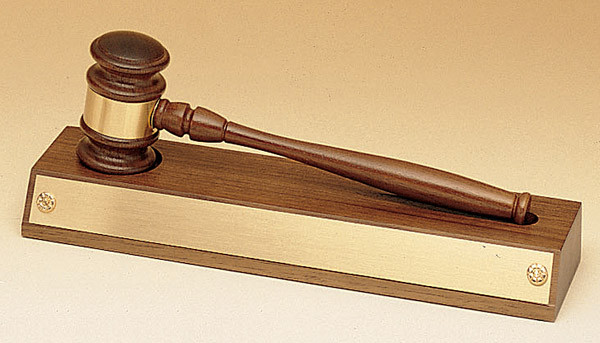 """11.5"""" Walnut Base with Removable Gavel"""