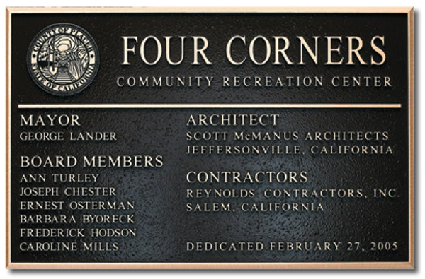 Cast Plaque
