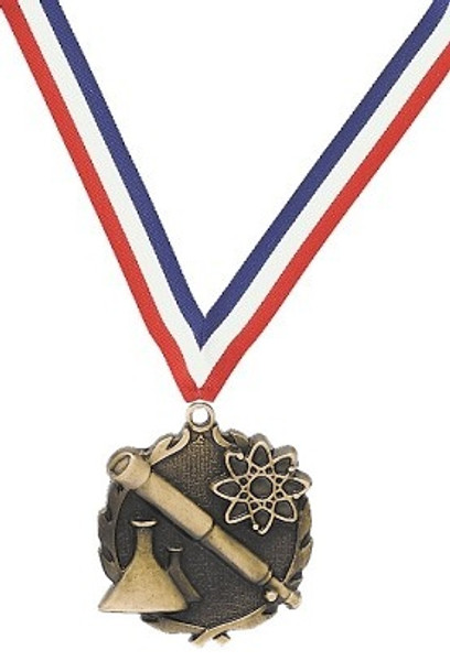 Science Medal with Red, White & Blue Ribbon