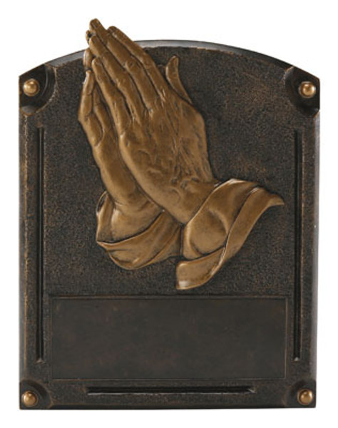 "Religion Praying Hands Legends of Fame Standing Resin Award 8"" Tall"