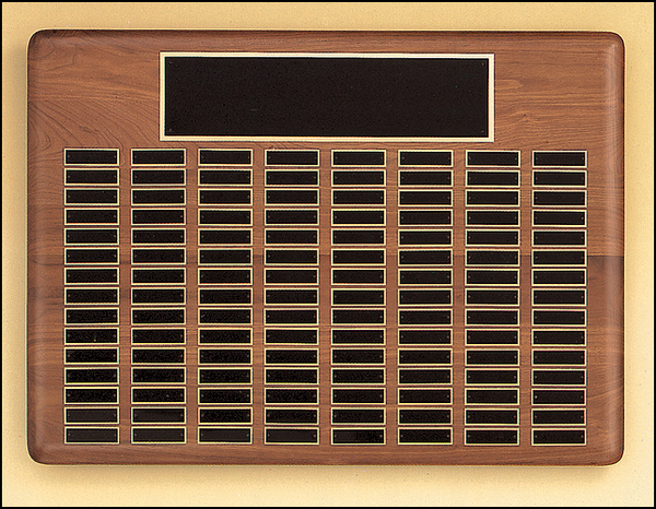 """22"""" x 30"""" (120 Plate) Solid American Walnut Perpetual Plaque"""