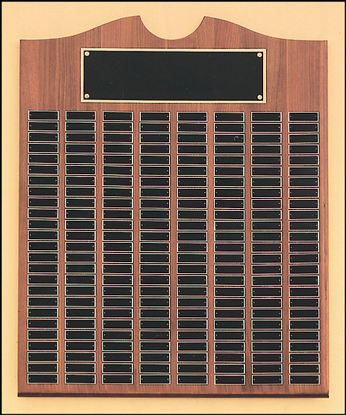 """28"""" x 35"""" (270 Plate) Solid American Walnut Perpetual Plaque"""