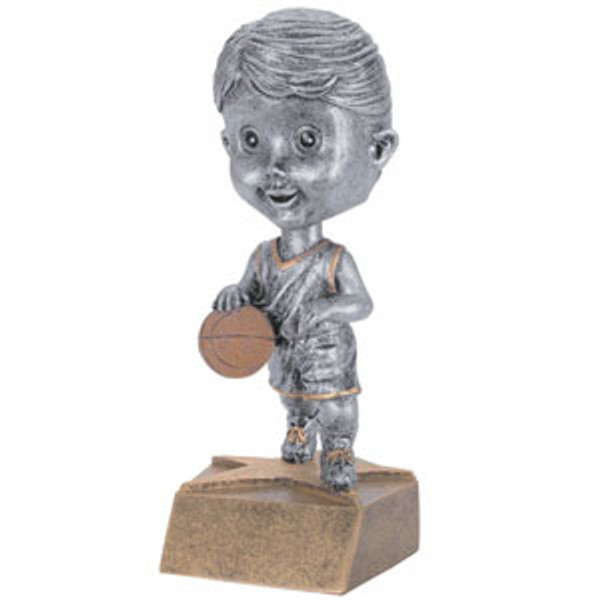 "Basketball Female Bobble Head Resin 6"" Tall"
