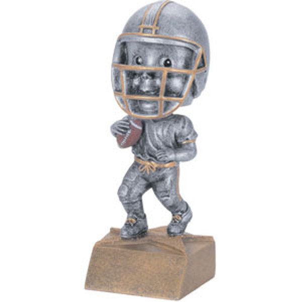 "Football Bobble Head Resin 6"" Tall"