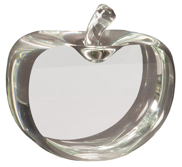Clear Crystal Apple Award 3.5""