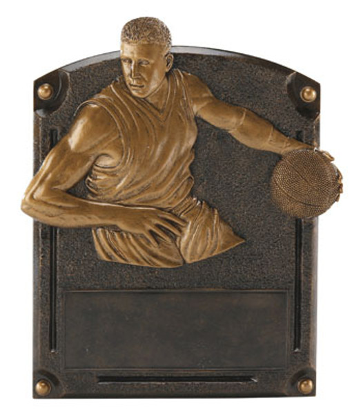 "Basketball Male Legends of Fame Standing Resin Award 8"" Tall"