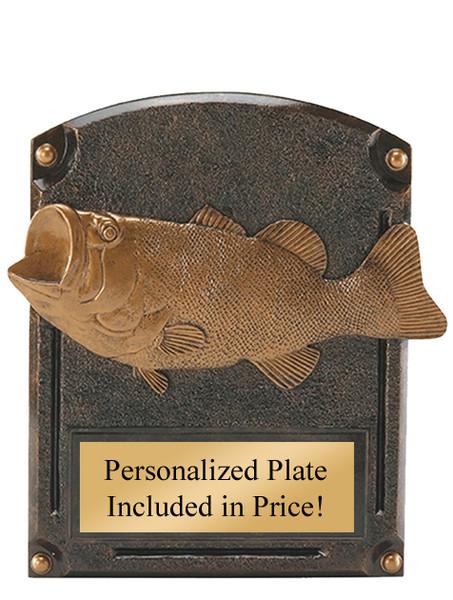 "Bass Fishing Legends of Fame Standing Resin Award 8"" Tall"
