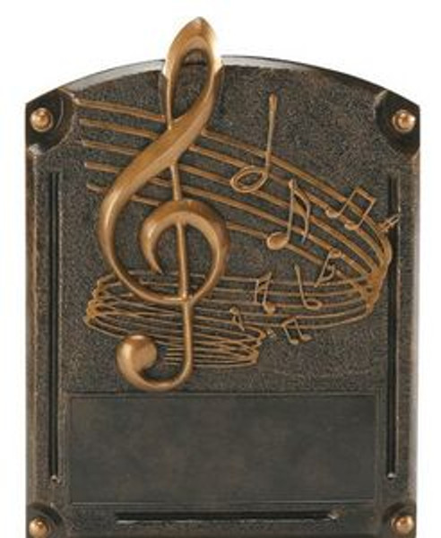 """Music Note Legends of Fame Standing Resin Award 8"""" Tall"""