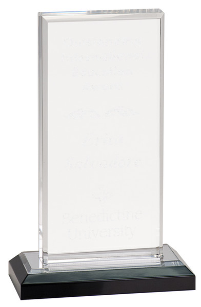 "Beveled Impress Clear Acrylic 7"" Tall"