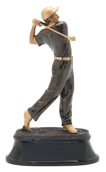 "Power Male Golf Resin Award  12"" Tall"