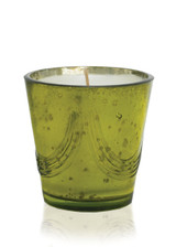 White Spruce Natural Soy Candle in Mercury Glass-12 oz. garland design