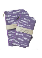Lavender  Travel Essential Cosmetic Bags (set of 2)