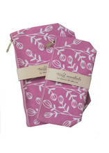 Jasmine Plum Travel Essential Cosmetic Bags (set of 2)