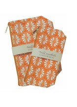Clementine Travel Essential Cosmetic Bags (set of 2)