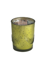 White Spruce Natural Soy Candle in Mercury Glass-8 oz. garland design