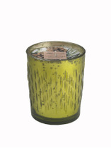 White Spruce Natural Soy Candle in Mercury Glass-8 oz.icicle design