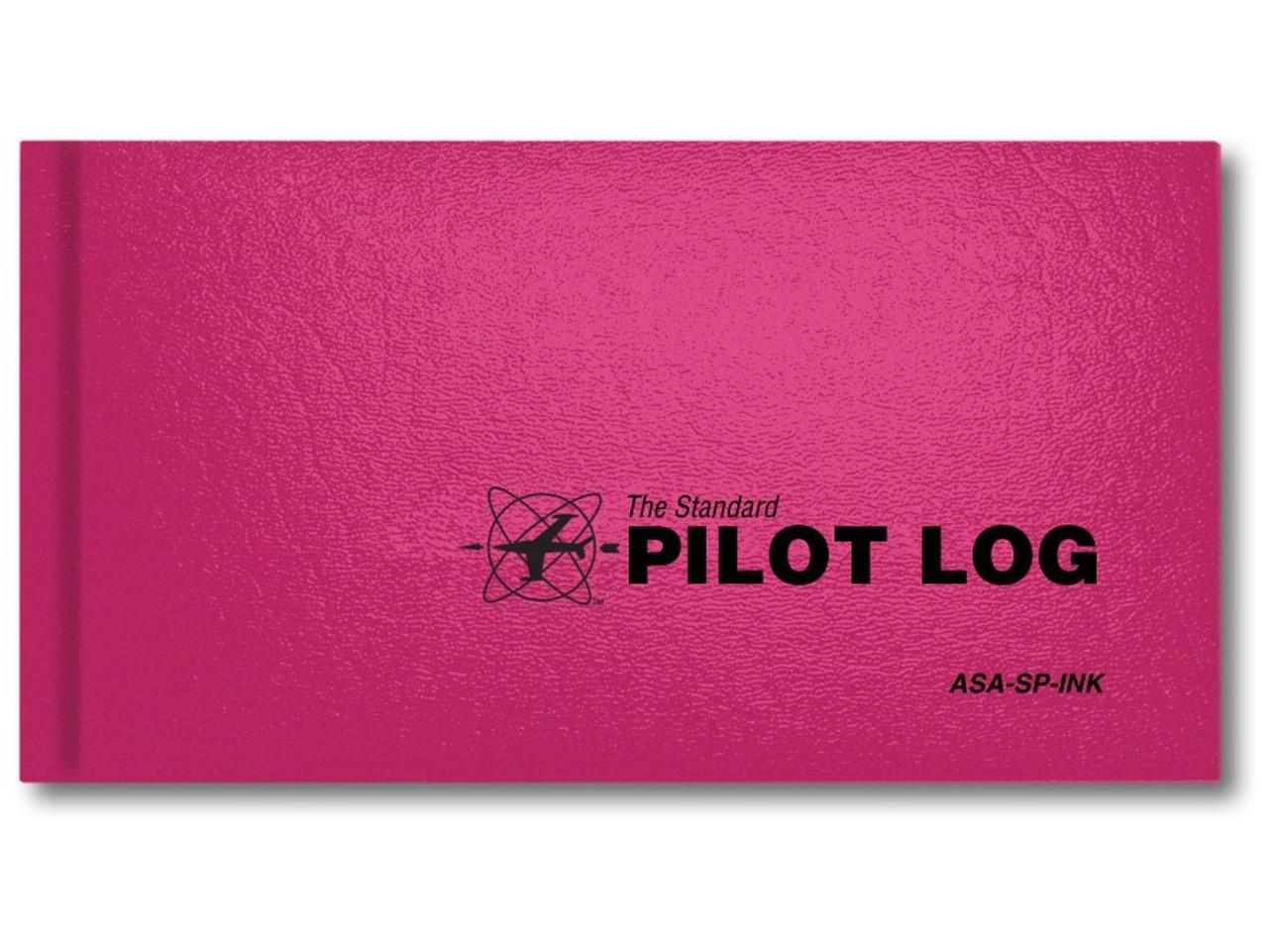 ASA Standard Pilot Logbook - Pink (ASA-SP-INK)-SkySupplyUSA