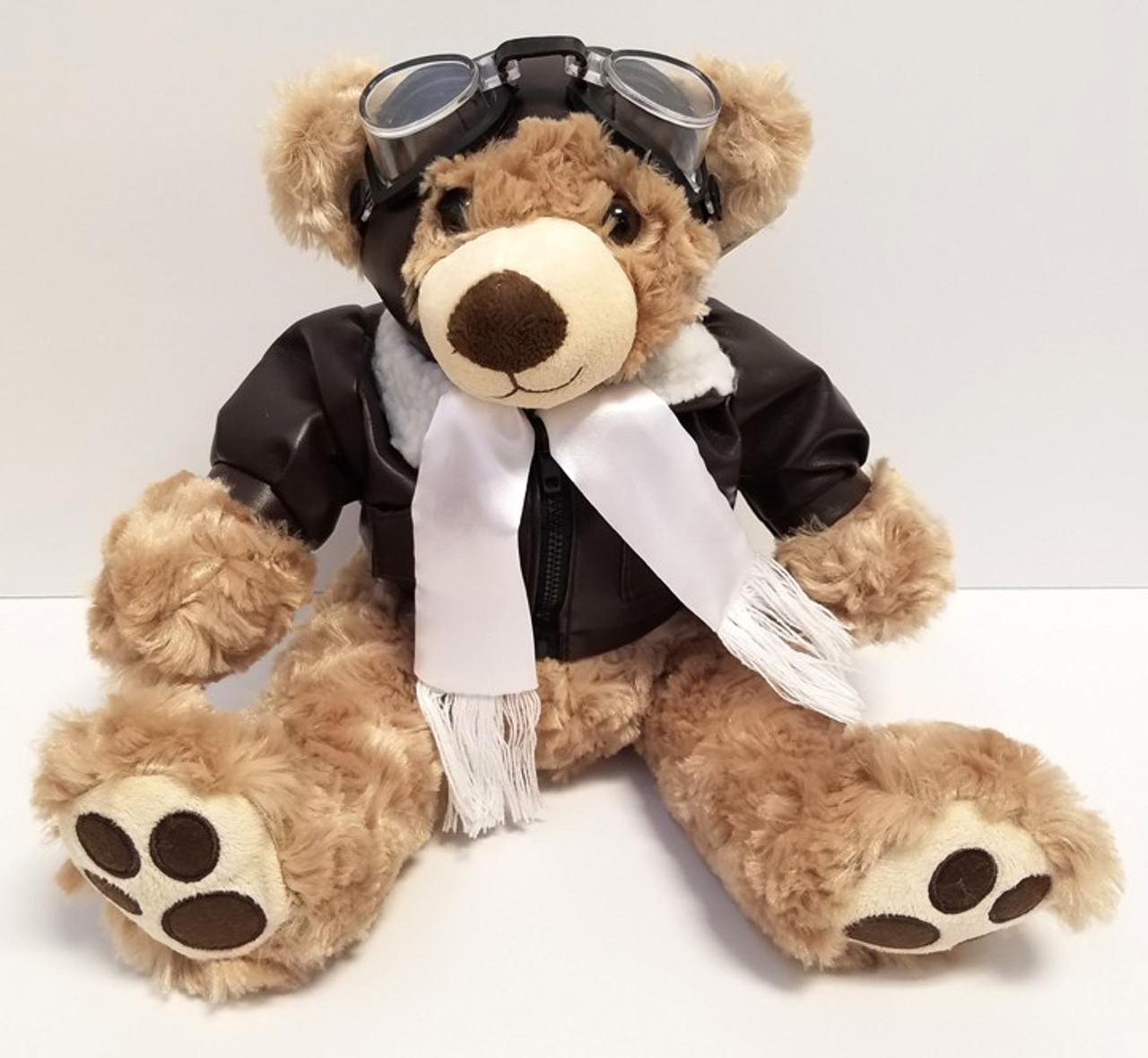 """14"""" Pilot Bear with Big Adorable Feet BIG FOOT BEAR-LG"""